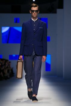 A look from the Canali Spring 2016 Menswear collection.