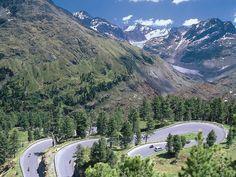 The road to Kaunertal Glacier. Tirol.