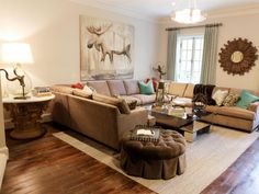 See HGTV.com for ideas and inspiration when transforming your living room into a relaxing and rustic space.