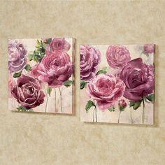 Marvelous Emma Rose Floral Canvas Wall Art Set