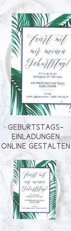 Digitale Garten Party Einladung Invite von juliahartliebdesign
