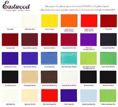 Want To See What An Eastwood Paint Looks Like Next Your Car Or In The Sunlight Now Has A Chip Chart So You Can Color Before