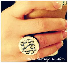 Get this cute personalized ring @ Urban Exchange on Main!