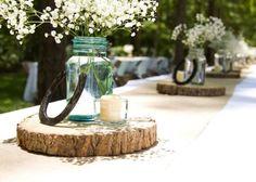 Western Horse Shoe wedding centerpieces Pinteres