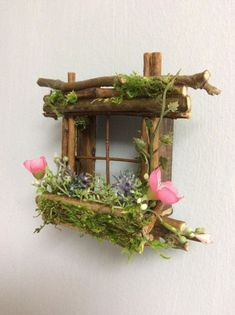 Mini Fairy Window 2 inch by 2 inch size, add Fairy Shoes see below option~ Handcrafte. Mini Fairy Window 2 inch by 2 inch size, add Fairy Shoes see below option~ Handcrafted by Olive ~ always one of a kind - - Indoor Fairy Gardens, Fairy Garden Plants, Fairy Garden Furniture, Fairy Garden Houses, Miniature Fairy Gardens, Fairy Gardening, Diy Fairy House, Fairy Tree Houses, Garden Cottage