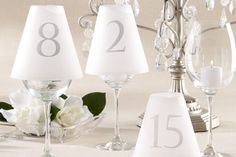 #HLo-Tips: Estas pantallas de papel mantequilla con números nos ayudan a identificar las mesas en cualquier evento.