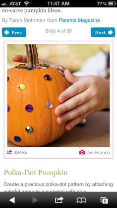 Pumpkin decorating!