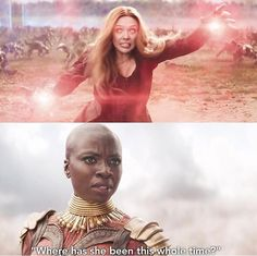 You can actually hear the annoyance in her voice as you read it. Lol. Okoye is done with everyone's shit.