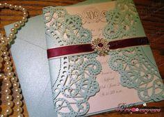 Doily Chic Monogram Wedding invitation by BZSharpWeddings on Etsy Doily Invitations, Monogram Wedding Invitations, Wedding Stationery, Wedding Ceremony, Chic Wedding, Vintage Cards, Wedding Cards, Wedding Inspiration, Weeding
