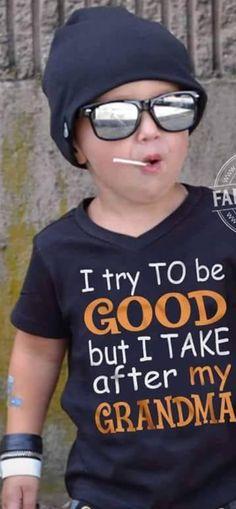 Grandma Thug Life - Funny Kids Shirts - Ideas of Funny Kids Shirts - Grandma Thug Life Grandma And Grandpa, Grandmother Quotes, Funny Grandma Quotes, Cousin Quotes, Daughter Quotes, Father Daughter, Quotes About Grandchildren, Funny Kids Shirts, Thing 1