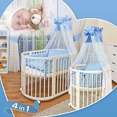 ComfortBaby © - Kinder Baby Bett - Oval - 3 in 1 - aus Buche Massivholz - nutzbar als Kinderbett, Laufgitter, Minibett INKL. Himmel, Bezuege, Decken, Matratzen, Nestchen uv...4 ComfortBaby http://www.amazon.de/dp/B00LZRTRVU/ref=cm_sw_r_pi_dp_Eyyaub06EPN8W