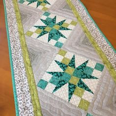 Loved making this runner #quilting #quilts #homedecor #tablerunner #tabledecor #handmade #homedecor #quiltedrunner