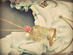 Bird cage necklace!