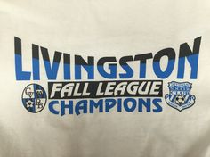 Every fall, we get the opportunity to make the t-shirts for our local fall soccer leagues' end of the season tournament. We went with a classic blue and black color scheme for the 2015 design. #design #custom #graphicdesign #embroidery #screenprinting #tshirt #apparel #artwork #soccer #soccertournament #youthsoccer #kids #art