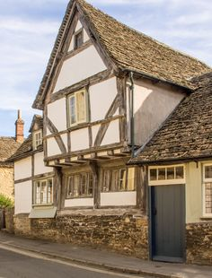 An ancient house in Lacock village, Wiltshire_ England