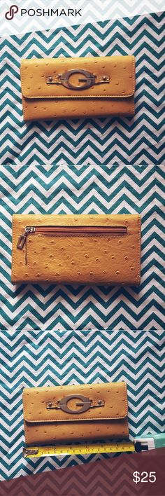 Guess Brown Yellow Wallet Guess  Excellent Condition - like new  Any Questions? Just ask! Guess Bags Wallets