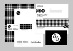 black & white identity by Eight Hour Day