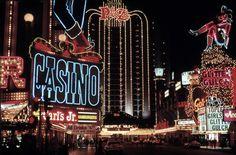"officialneonmuseumlasvegas: "" 1992 Downtown Las : Thomas Hoepker via Vintage Las Vegas "" Bourbon, Las Vegas, Vegas Casino, Atlantic City Casino, Neon Licht, Neon Museum, Vintage Neon Signs, Travel Party, Sin City"