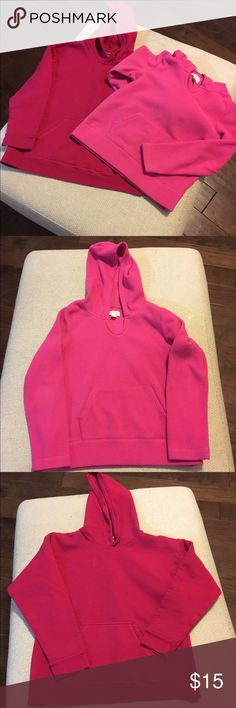 Lot of 2 Girls Sweatshirts Size M 7/8 2 pink girls hoodie sweatshirt's. Like new, no stains or tears. Light pink is Children's Place, darker pink is Hanes (I don't think dark has ever been worn). Both have front middle pocket. Children's Place Shirts & Tops Sweatshirts & Hoodies