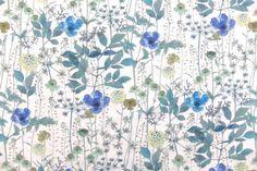 Liberty of London Cotton Lawn Print Flax Plant, Liberty Fabric, Liberty Of London, Diy Art, Tulle, Curtains, Quilts, Lawn, Cotton
