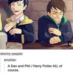 Why is Dan a Slytherin? I mean we all know that Phill would be a Hufflepuff but Dan isn't like a Slytherin at all