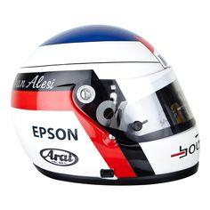 Jean Alesi F1 helmet 1991 Tyrell F1