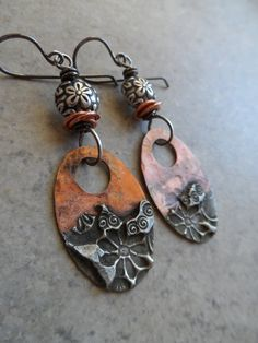 Daisy Chain ... Mixed Metal Copper With Silver by juliethelen