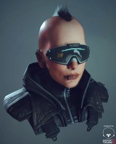 Cyberpunk Bust, Michael Palm on ArtStation at… Cyberpunk Mode, Cyberpunk 2077, Cyberpunk Fashion, Character Art, Character Design, Character Portraits, Samurai, Real Model, Sci Fi Characters