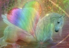 Inner Child Healing Package from Sophia Charles Inner child work for Twinflames. Unicorn And Fairies, Unicorn Fantasy, Unicorn Horse, Fantasy Dragon, Horse Horse, Mythological Creatures, Fantasy Creatures, Fantasy World, Fantasy Art