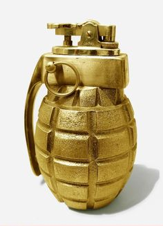 I think I have a bronzed Army frag grenade somewhere. A little souvenir from Hilltop.