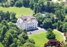 Plas Glansevin  - Llangadog,  Wales, this large mansion house has a plunge pool as well as extensive gardens and is ideal for big groups.