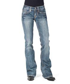 Look what I found on #zulily! Stetson Blue Flap Pocket Blanket-Stitch Deco Jeans by Stetson #zulilyfinds