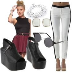Monochrome, created by rebeccaalonzo on Polyvore