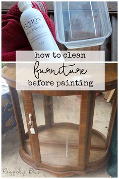 Ensuring that surface that your going to paint on is clean is vitally important when painting furniture. Sharing How To Clean Furniture Before Painting. Cleaning Painted Walls, Cleaning Wood, House Cleaning Tips, Spring Cleaning, Cleaning Hacks, Distressed Furniture Painting, Paint Furniture, Furniture Makeover, Furniture Stores