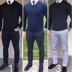Which monochrome look is your favorite All black  all blue  or all gray  #DapperConcept : @chrismehan