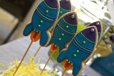 rocket cookies for a space party