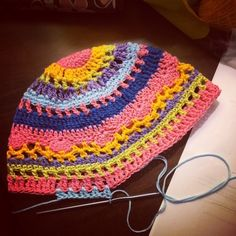 colorful crochet hat by caswelljones from 70+ Inspiring #Crochet Photos