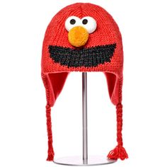 Kids Elmo Pilot Hat, Kids Sesame Street Winter Hat, Elmo Winter Hat at PalmerCash.com