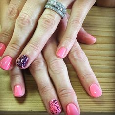 """#nailartobsessed #nailitdaily #freshset #polished #gelpolishmanicure #manicured #pinkandpurple #swirls #sogirly #soperfect #treatyourself #rockyournails…"""