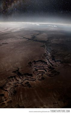 COOL ! The Grand Canyon from space…