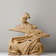 PAUL KAPTEIN – WOODEN SCULPTURES #paulkaptein #wooden #sculptures #art #wood #carving #material #immaterial