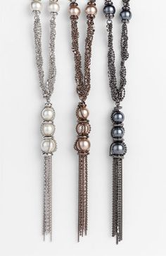 Givenchy Glass Pearl & Chain Y-Necklace available at #Nordstrom
