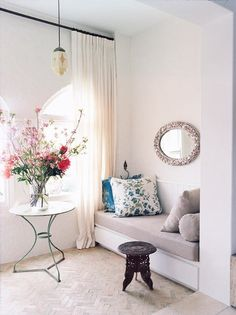 Fancy - New Orleans Inspiration / Suzie: Sarah Davidson Interior Design - Chic sitting area in bedroom with unglazed Moroccan ...