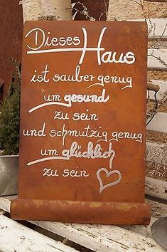 Edelrost Tafel - This House . Garden Decoration Schild Gedichttafel Spruch Text Source by tabieesz Metal Board, Stainless Steel Panels, Garden Signs, Diy Garden Decor, Proverbs, Cool Words, Decir No, Quotes To Live By, Qoutes