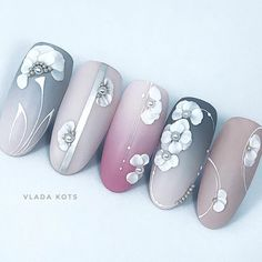 3d Nail Art, 3d Nails, Easy Nail Art, Nail Arts, Lace Design, 3d Design, Nail Art Techniques, Simple Nails, Spring Nails