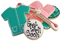 Get Well Soon treats #sugarcookies #delivery