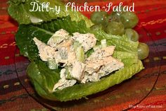 Dill-y Chicken Salad from @Kate Scarlata  Super easy to make, and would be great with some chopped pecans too!
