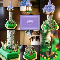 Tangled / rapunzel birthday cake