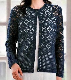 Crochet Sweater: Cardigan - Crochet Cardigan Pattern I feel like this is a sweater for a thin person with no boobs but I would really love to adapt it as a wrap or scarf. Source by crochet Black Crochet Dress, Crochet Coat, Crochet Tunic, Crochet Jacket, Crochet Clothes, Crochet Sweaters, Crochet Bolero Pattern, Crochet Cardigan Pattern, Crochet Patterns