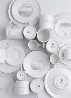 Philosophia's porcelain art de la table collection is not only practical and easily mixed with other tableware, but also fun to use: much like a hidden treasure, the Greek word at their center will be revealed only after their contents have been consumed. Whatever you serve –savory finger food or petits gateaux? in the end, everybody wins.